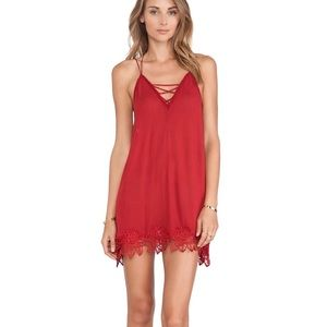 Red Strappy Free People Dress